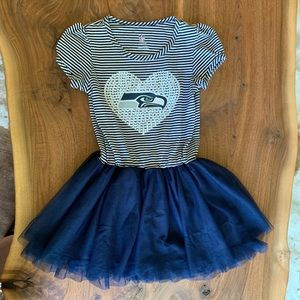 Seattle Seahawks Celebration Tutu Sequins Dress